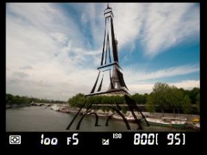 Plantilla de la Torre Eiffel para la Nikon DSD